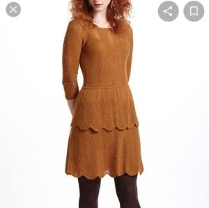 Knitted & knotted pointelle sweater dress